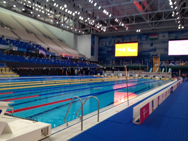 Duna Pool A at the 2017 FINA World Masters Championships in Budapest, Hungary