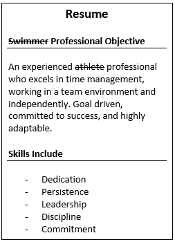 Competitive Swimmer Resume