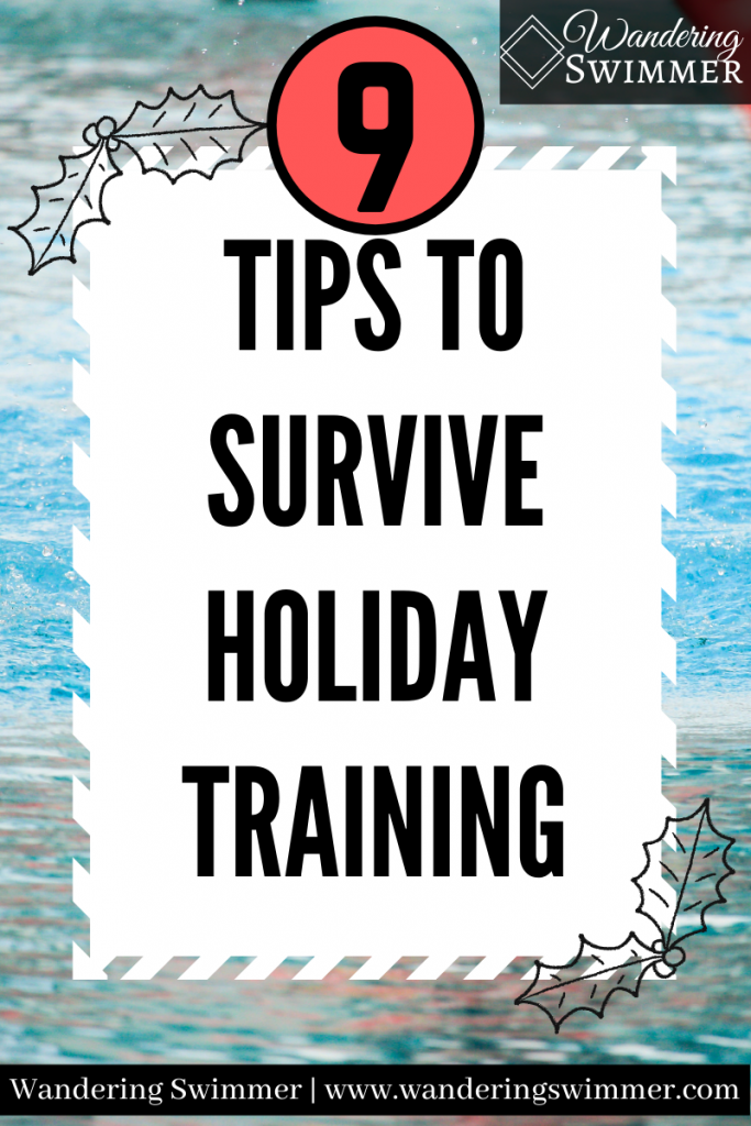 pin image with text that reads: 9 tips to survive holiday training