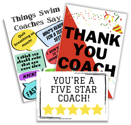 Picture of various thank you cards for coaches as a gift idea
