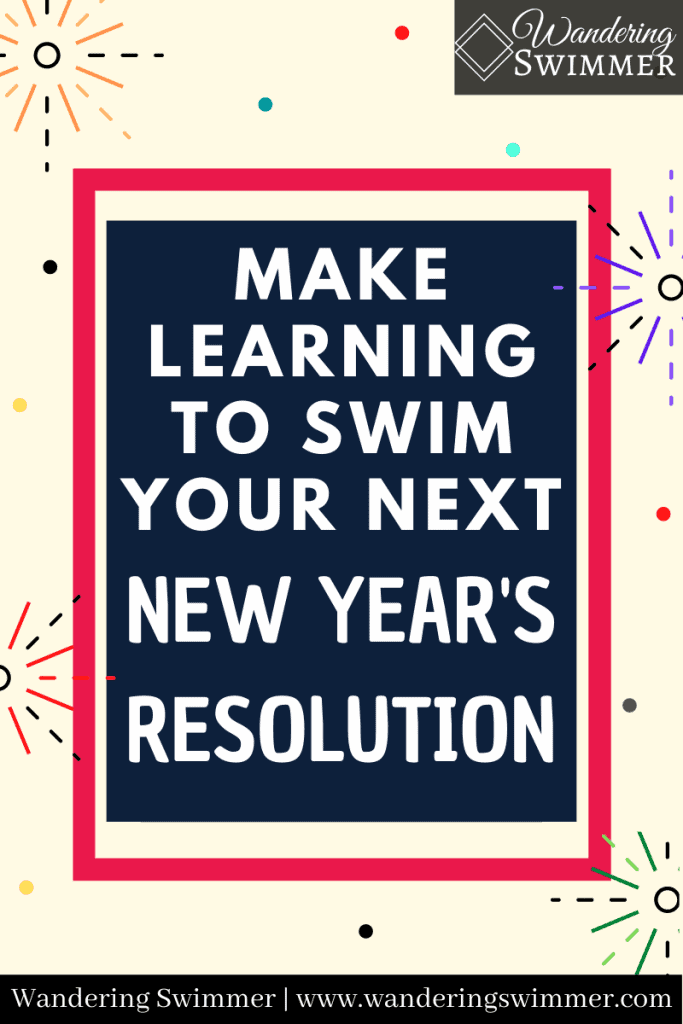 pin image: make learning to swim your next new year's resolution
