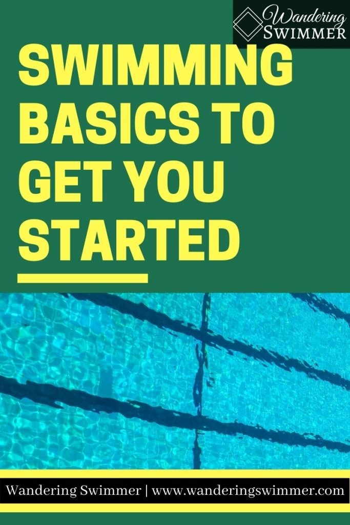 """pin image with text that reads: swimming basics to get you started"""""""