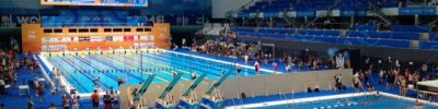 Duna Pool A with Diving Well at FINA World Masters in Budapest, Hungary